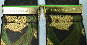 Trafalgar Leopard Print Silk Braces for Paul Stuart (New w/ Tag!)