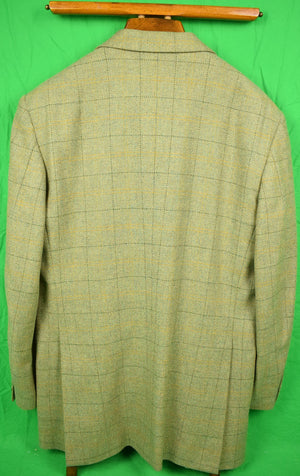 Chipp Windowpane c1996 Tweed Jacket w/ Game Bird Lining