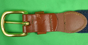 MRC/ Mill Reef Club Leather Man LTD. Ribbon/ Canvas Belt Sz: 46