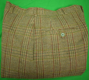 "Chipp Glen Plaid Wool-Lined GT Lined-Trousers Sz 34""W"