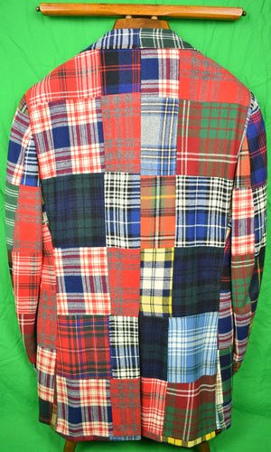 Chipp Patch Panel Tartan Sport Jacket Sz: 40L