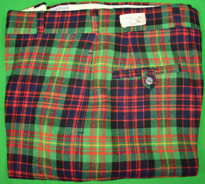 "'O'Connell's Tartan Plaid GT Wool Flannel Trousers' Sz: 35""W (New w/ Tag!)"