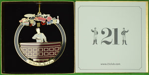 "The ""21"" Club New York Bartender Christmas Ornament (New in Box)"