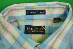The Andover Shop by F.A. MacCluer India Madras L/S BD Sport Shirt Sz:XL (Deadstock!)
