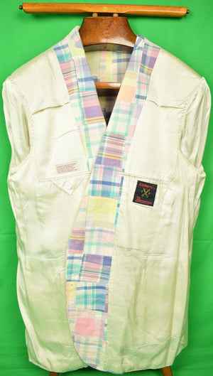 Patch Madras Plaid Jacket Sz: 42L