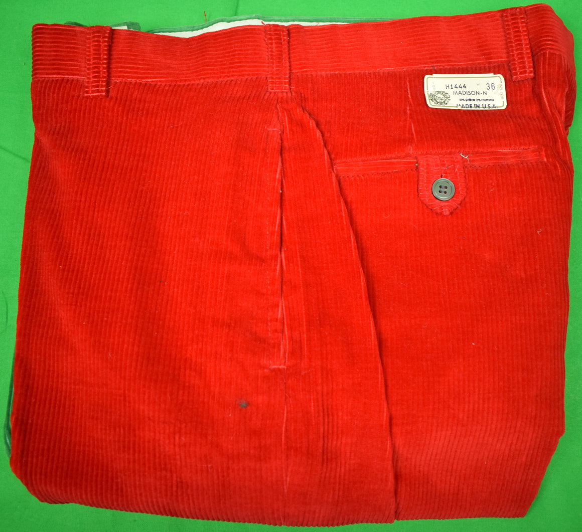 "'Chipp Patch Panel Cord GT Trousers' Sz: 36""W (New w/ Tag!)"