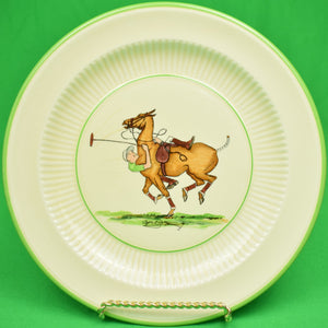Set of 5 Cyril Gorainoff c1936 Hand-Painted Polo Player Plates