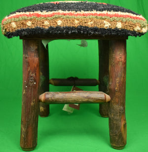 Adirondack Trout Stitchwork Stool (New w/ Tag!)