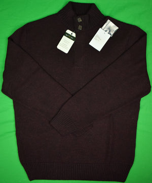 The Andover Shop Royal Alpaca 2 Button Wine/ Black Sweater Sz: L (New w/ Tags!)
