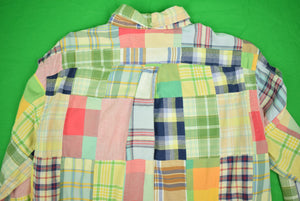 Ralph Lauren Patch Madras L/S BD Sports Shirt Sz: M