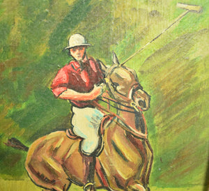 Polo Match c1950s Acrylic on Canvas by Larry Golden