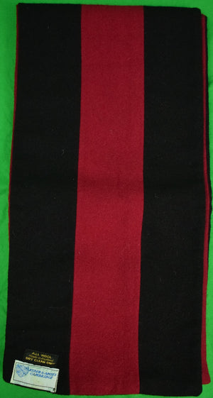 Ryder & Amies Cambridge Black/ Burg Rowing Scarf
