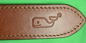 "Vineyard Vines Ribbon/ Canvas Belt w/ Rolling Rock Club Logo & X'd Guns Sz: 44""W"