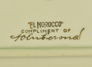"""El Morocco"" Ceramic Ashtray (Still in Box!)"