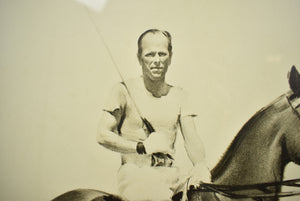 'Palm Beach Polo' c.1951 Charcoal Drawing by Jack Lorraine