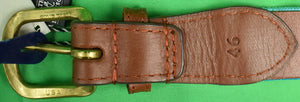 Smathers & Branson Needlepoint Belt w/ Mill Reef Club Antigua Logo Sz: 46 (New w/ Tags!)