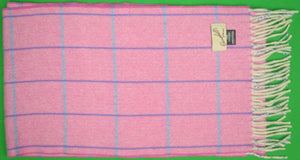 Campbell's of Beauly 100% Scottish Cashmere Pink Herringbone Scarf