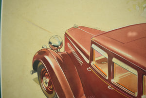English Armstrong Siddeley Motorcar Advert Illustration c1936 Artwork