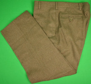 Chipp Heather Brown Flannel Trousers Sz: 36""