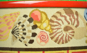 "Needlepoint ""Seashells"" Panel"