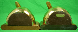 Pair of Brass Mallard Duck Head Bookends Sold by Brooks Brothers