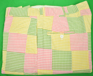 "O'Connell's Patch Gingham Check Trousers Sz 40""W"