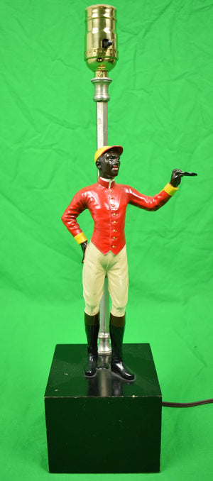 Vintage Black Americana Jockey c1940s Table Lamp