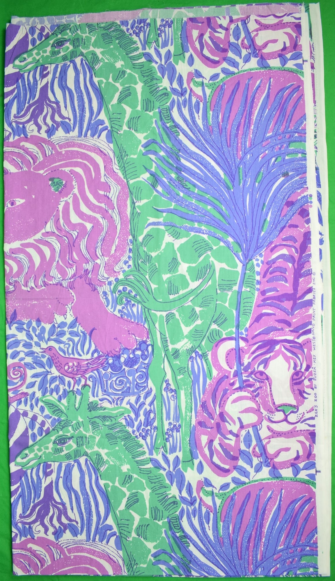 Zek's Zoo By Zuzek Key West Hand-Print c1960s Lilly Pulitzer Fabric (Sold!)