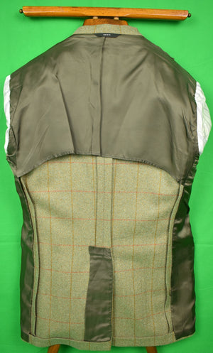 J Press/ Robert Noble Gamekeeper Tweed Huntsman Jacket Woven in Scotland Sz: 40L