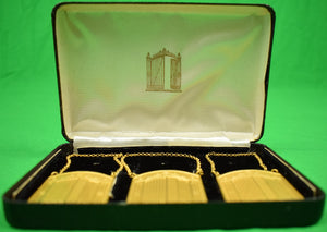 "The ""21"" Club Iron Gate Decanter Brass Tags in Boxes!"
