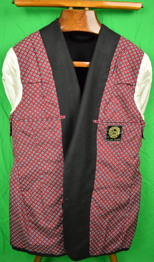 Chipp c1984 Black Blazer w/ New York Yacht Club Buttons & NYYC Crest Sz 42R