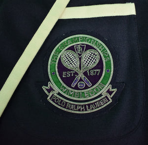 Polo Ralph Lauren Official Wimbledon Tennis Navy University Blazer Sz: 42R