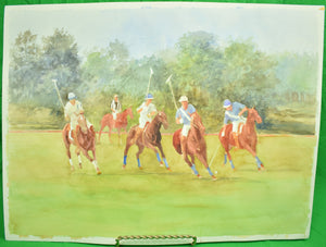 """Second Chukkar"" Watercolour by Williamson Douglas (1942-1998)"