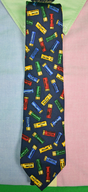 Drakes/ Holland & Holland Shot Shells Tie (SOLD)