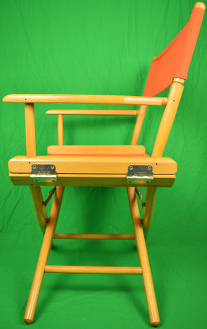 Pair of Hermes Orange Canvas Telescope Director's Chairs (New/ Old Stock!) (One Pair Sold!)