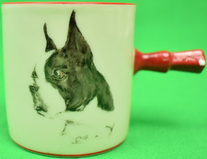 Cyril Gorainoff for Abercrombie & Fitch Set of 5 Dog Breed Demitasse Cups & Saucers