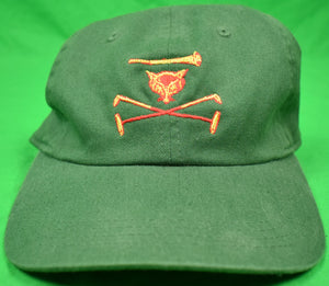 Myopia Hunt Club w/ Embroidered Polo Mallets Hunter Green Cap New!