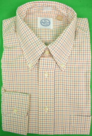 The Andover Shop Red & Blue Tattersall BD Dress Shirt Sz: 15 1/2-34 New w/ Tag! (SOLD)