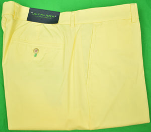 "Lilly Pulitzer Palm Beach Yellow Poplin Phipps Pants Sz: 36""W (N w/ T!)"