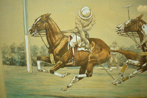 """The Goal"" American Polo Scenes 1930 by Paul Brown for The Derrydale Press"