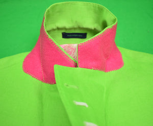 Lilly Pulitzer Lime Green English Cut Linen Blazer Sz: 46L