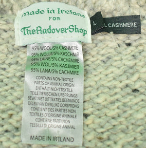 The Andover Shop Ladies Irish Wool/ Cashmere Lt Grey Cable Cardigan Sz: L