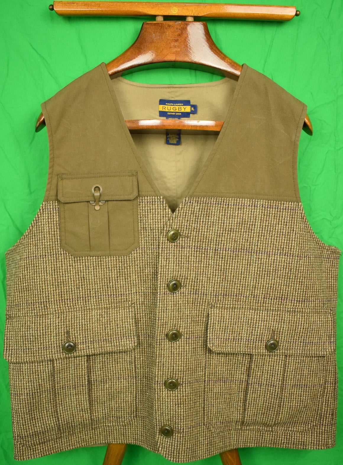 Polo Rugby Tweed Run Shooting Vest Sz: XL (New w/ Tags!)