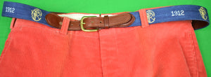 "Piping Rock Club Smathers & Branson Hand-Needlepoint Belt Sz 42""W"