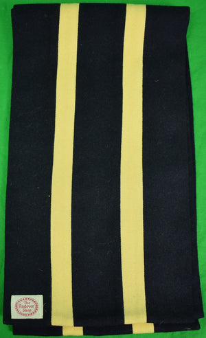 The Andover Shop Navy/ Yellow English Rowing Scarf