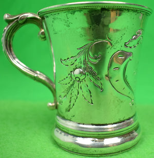 Sterling Mug Engraved: Thomas Cary From His Grandfather Thomas C. Love December 25, 1852