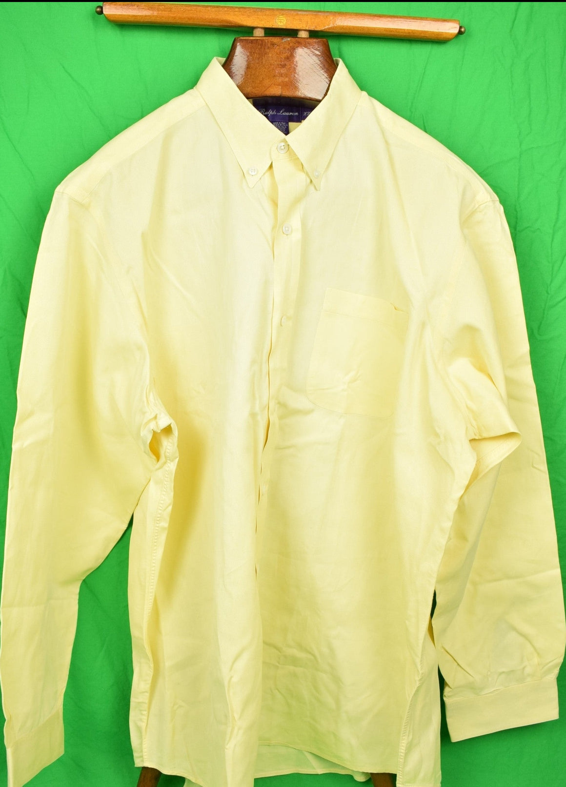 Ralph Lauren Purple Label Yellow BD Broadcloth Dress Shirt Sz: XXL