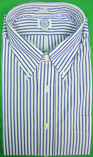 The Andover Shop Blue & White Bengal Stripe BD Dress Shirt Sz: 18-33 New w/ Tag!