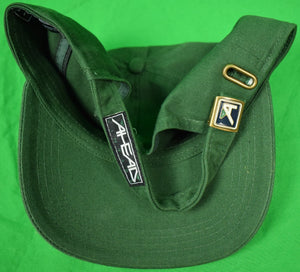 Myopia Hunt Club w/ Embroidered X'd Polo Mallets Hunter Green Cap (New!) (Sold!)