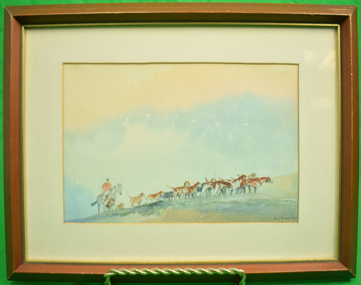 Paul Desmond Brown Huntsman w/ Pack of Hounds c1937 Watercolour
